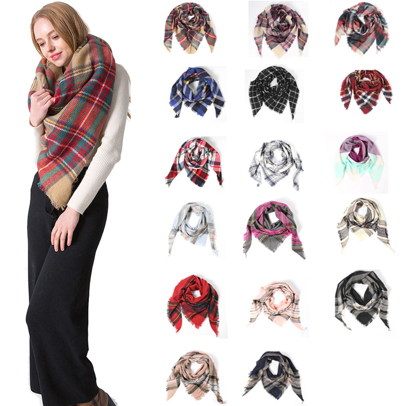 Women's Winter Stole Plaid <strong>Scarves</strong> Tippet Wraps Brand Ladies <strong>Scarf</strong> Women Classic Neckerchief Shawls and <strong>Scarves</strong> 200*62cm