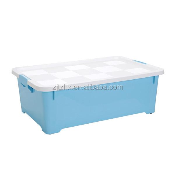 35l de pl stico transparente del hogar esenciales anidados - Cajas de plastico con ruedas ...