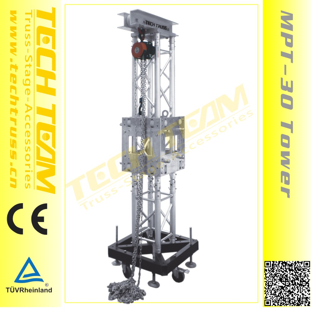 outdoor concert Aluminum truss and Truss lift tower
