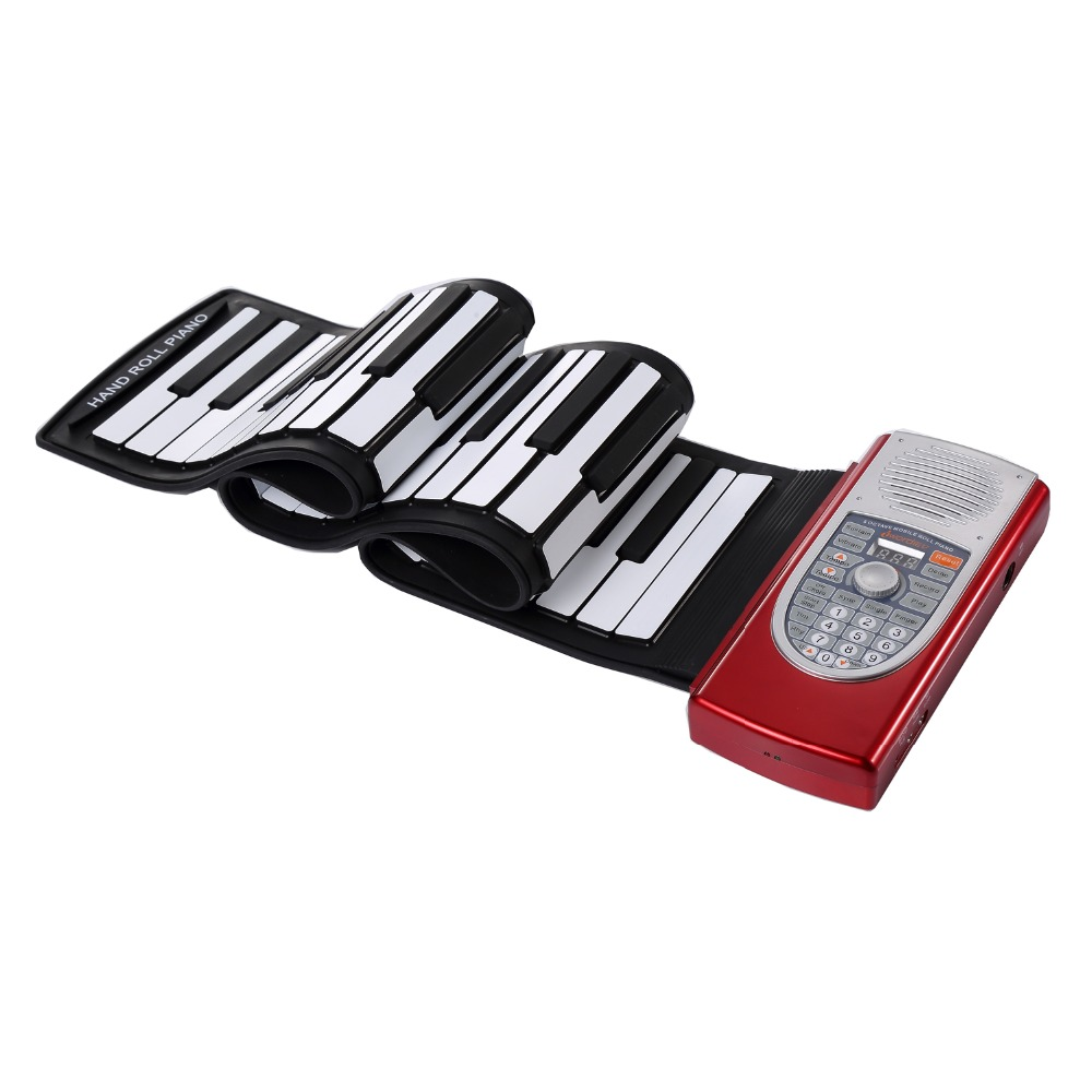 61 Keys Portable MIDI Flexible Keyboard Roll Up Piano
