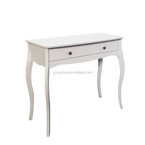 Cheap chinese furniture wooden white 2 drawers console table modern