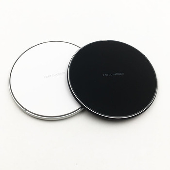 2019 QI charger Glass+Metal Qi  Fast Type-c Charging 10w Wireless Charger for Samsung for iPhone