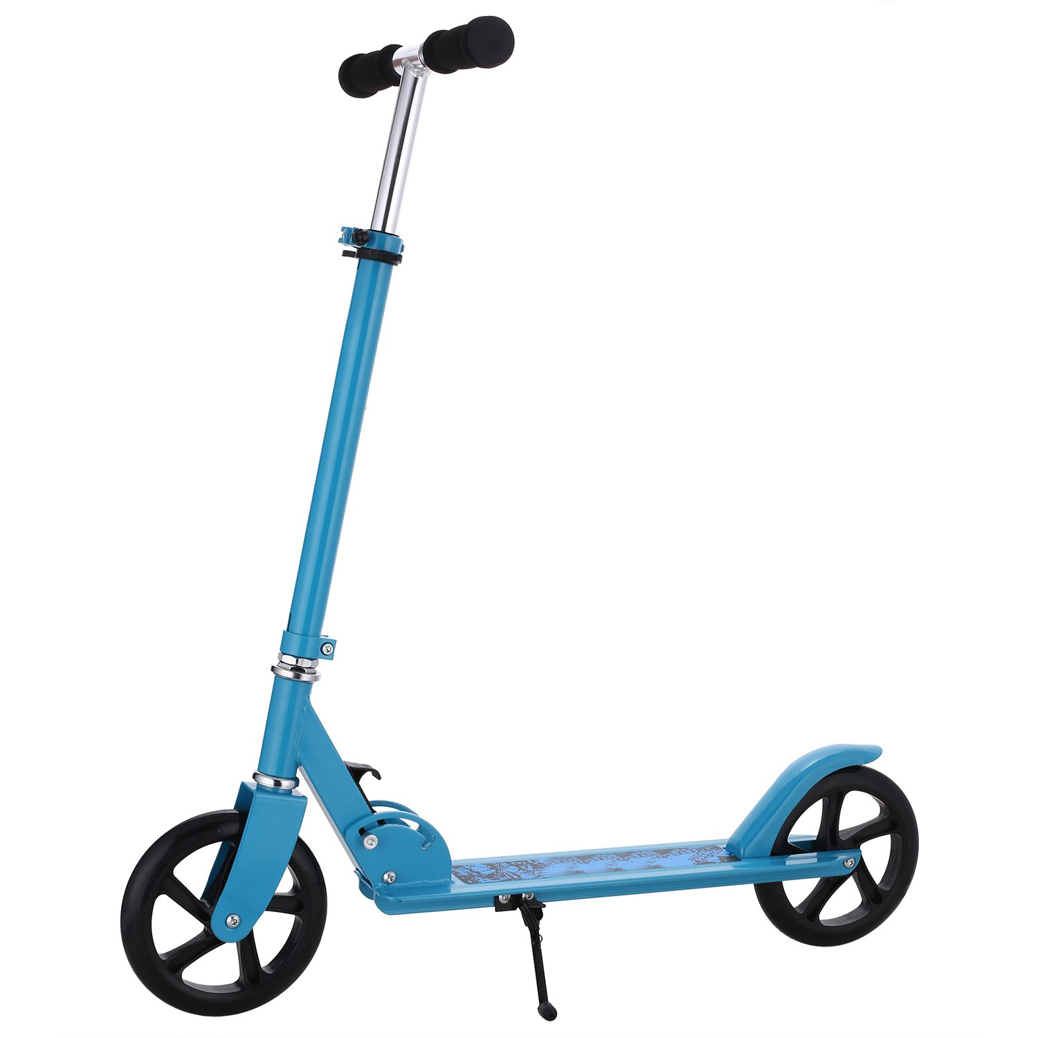 WeSkate Adult Scooter Easy Folding, Lightweight Kick Scooter with Rear Fender&Disc Brake, 200mm Big Wheels, 220 lbs Weight Capacity