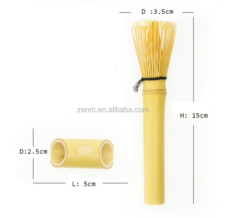 Long Handle Gold or Skinny Bamboo Matcha Whisk with Super Hard Box
