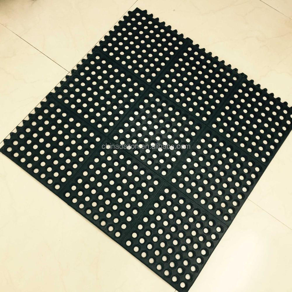 Flame Resistant Flooring : Commercial fire resistant interlocking rubber flooring mat