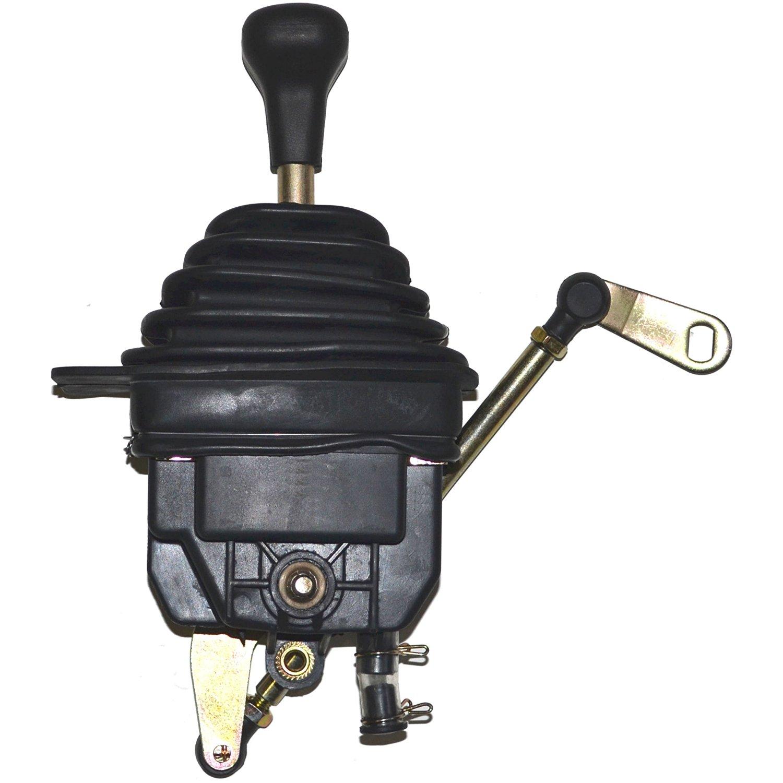 Lokar XFMS60C4DB Black 10 Floor Mount Shifter with Black Knob for Ford C-4 Transmission