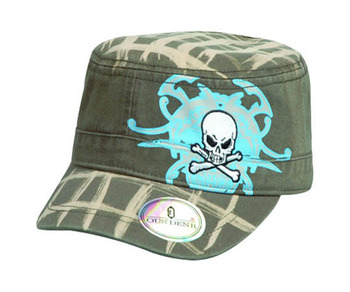 5266b560e8e Vintage BDU Fatigue Combat Hat (Green Woodland Camo)