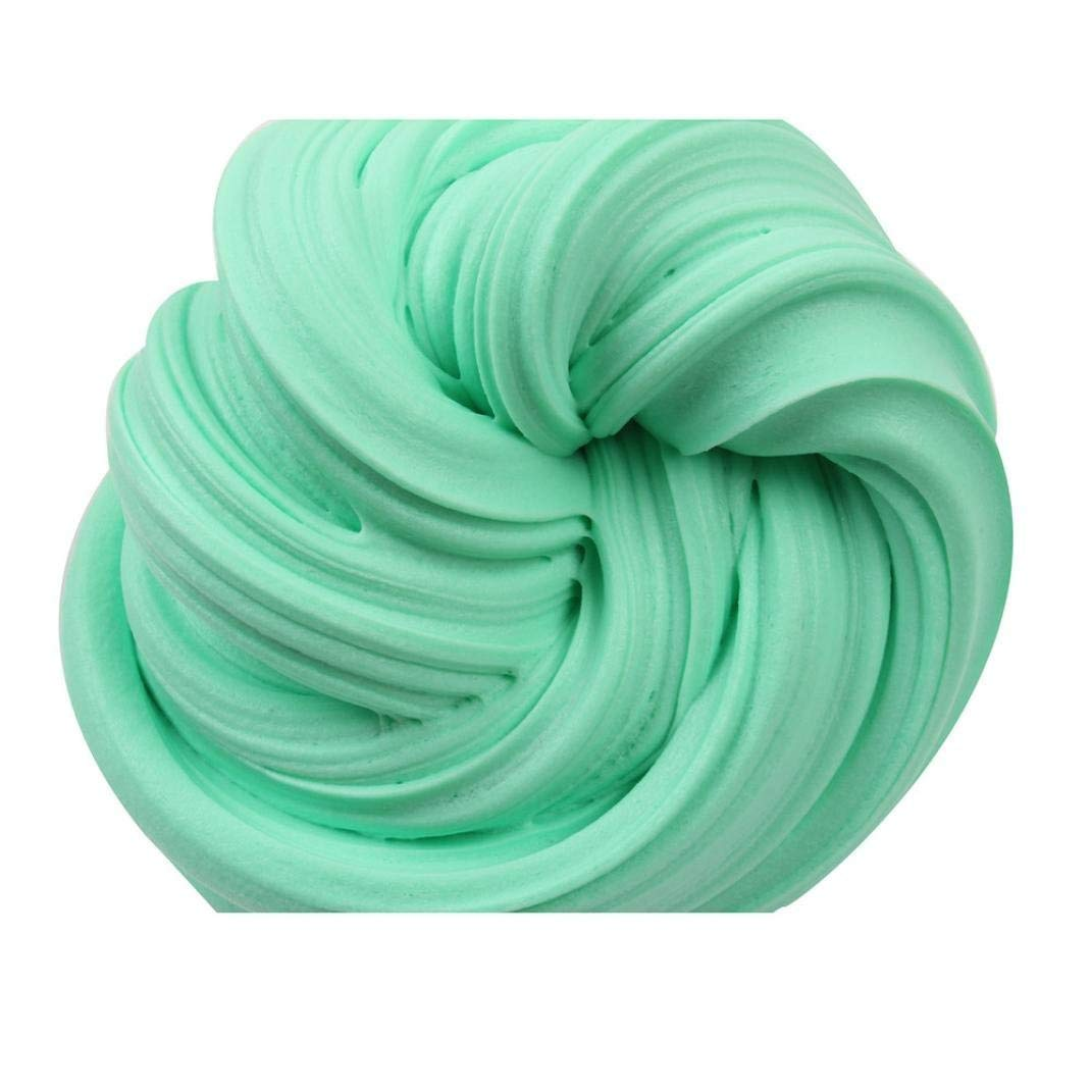 Drfoytg Stress Reliever Toys Mud Squishy Toy Slime Decompression Slow Rising Squeeze Cream Scented Kid School (Green)