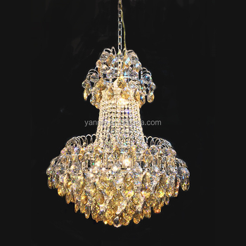 Modern ledk9 clear crystal gold color chandelier pendant ceiling modern led k9 clear crystal gold color chandelier pendant ceiling light for home aloadofball Image collections