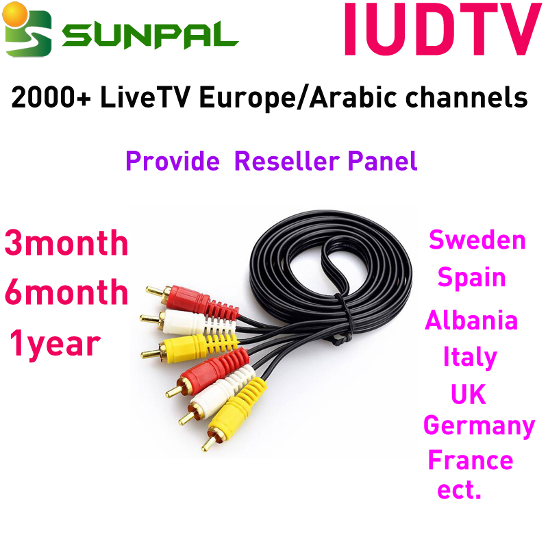 Arabic IPTV Channels IUDTV IPTV 1 Year with 24hours Free Test Code IUDTV Account Reseller Panel for Satellite Receiver Smart TV