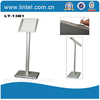 Portable poster holder stand square aluminum base