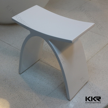 KKR solid surface shower stool sgabello per doccia stone stools,shower stools,foot stools