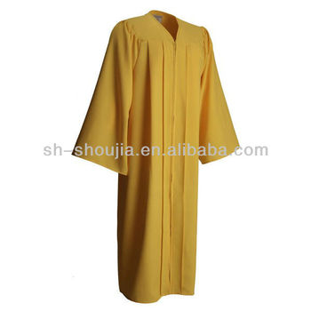 Bright Yellow Doctoral Graduation Gown With Cap,Deluxe Graduation ...