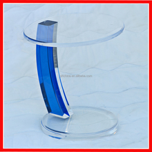 Trade Assurance Top Quality Light Blue Acrylic Coffee Table , Acrylic Side Table