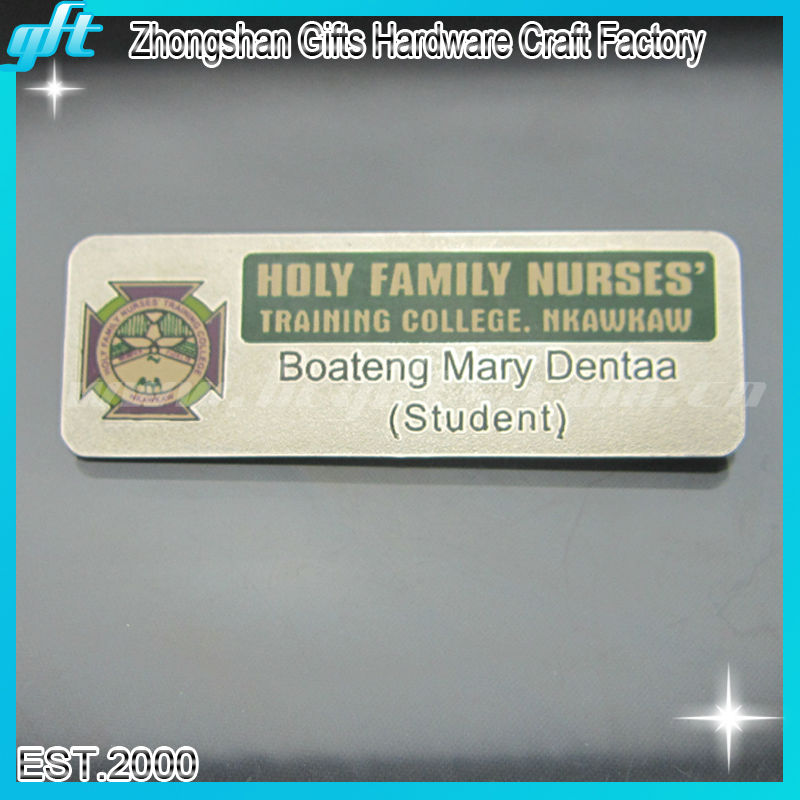 Custom Stainless steel Nameplate /Name Badge GFT-BB1546