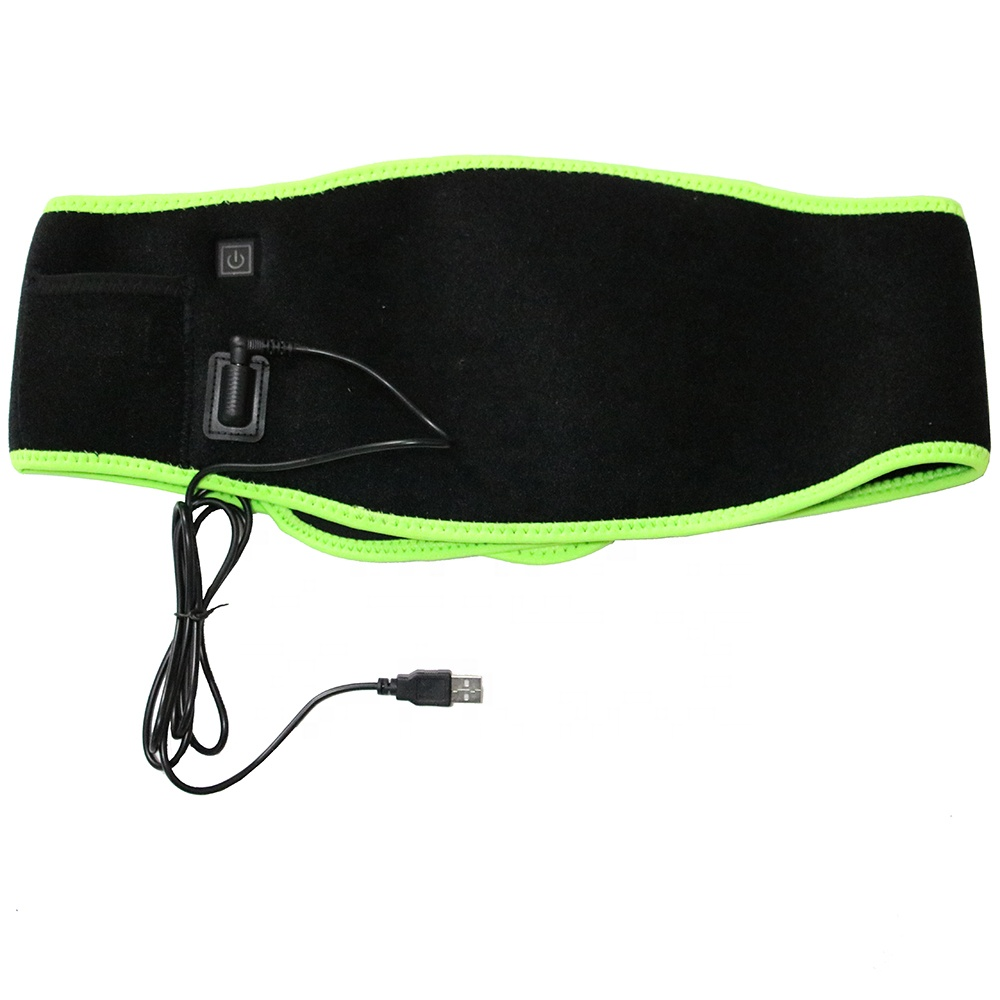 Health Cares 5V USB Powered Size Adjustable Far infrared electric heating waist belt Support Brace for Lower back pain