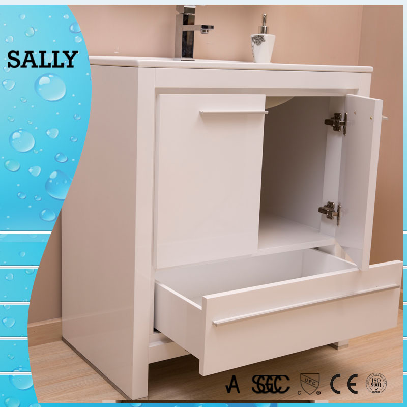 Family and hotels use wood damaged bathroom vanity for sale