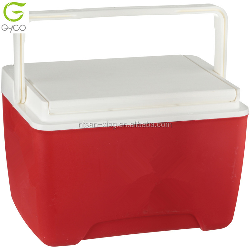 camping cooler box with handle