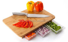 Antibacterial square shape bamboo cutting board