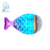 Fish tail shaped brush fashion oval mermaid makeup brushes