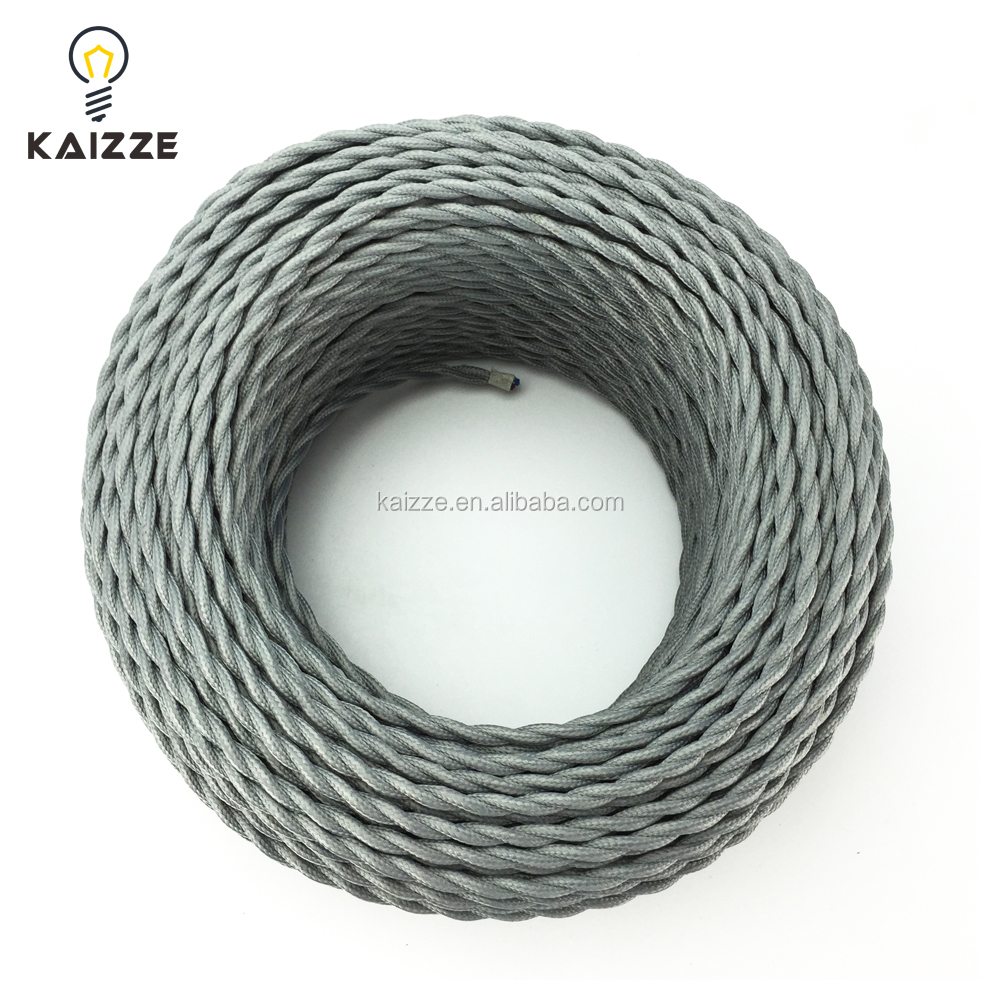 Fabulous 25 Ft Vintage Lamp Cord Antique Cotton Cloth Covered Twisted Wiring Digital Resources Remcakbiperorg