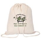 Custom LOGO 100% linen bag cotton canvas drawstring custom printed muslin bags