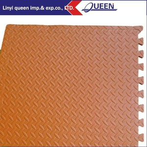 Polychrome Wood Effect Wood Trim Interlocking EVA Foam Exercise Baby Floor Mats for Playroom