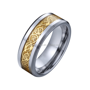 costume jewelry usa gold dragon mens ring