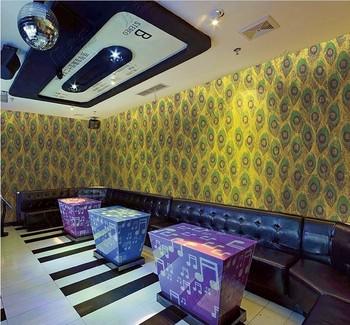 Oriental Designer Indian Restaurant Art Deco Pvc Washable Wallpaper ...