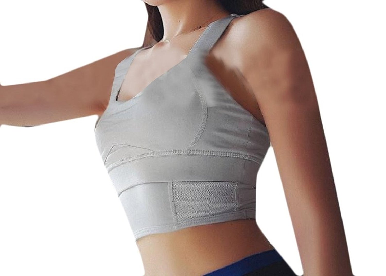 359de0cfe779dd Get Quotations · buildup Womens Hollow Cleavage Vest Shirt Shockproof  Weekend Sport Bra