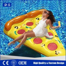 floating bed inflatable pizza float/colorful Pizza Pool Slice