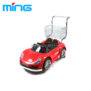 New Kids Shopping Trolley Children Shopping Cart with Toy Car