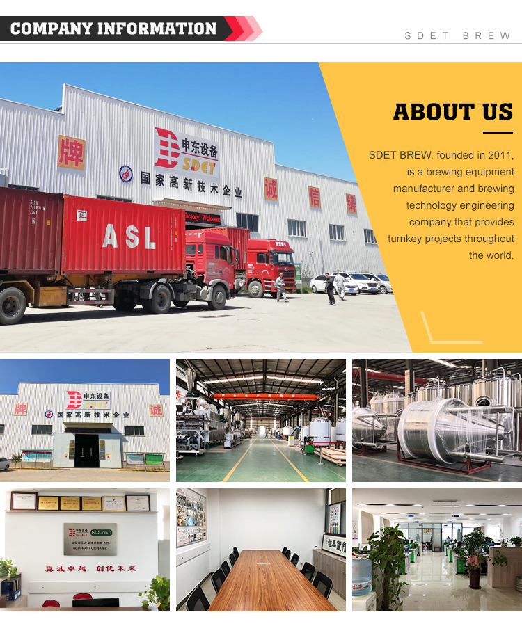 1000L 2000l 3000L 4000L 5000L Large Industrial Glycol Conical Jacket Pressure Beer Fermentation Tank Fermenter Equipment