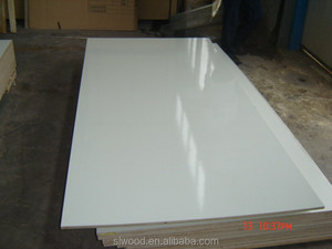 white HPL laminated plywood/particle board 18mm 25mm