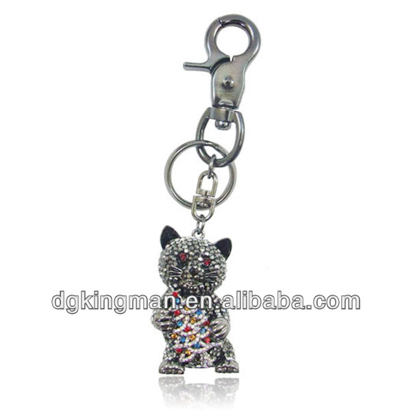 Fashion Rose Gold Austrian Crystal Mignon And Smart Key Chain Parts