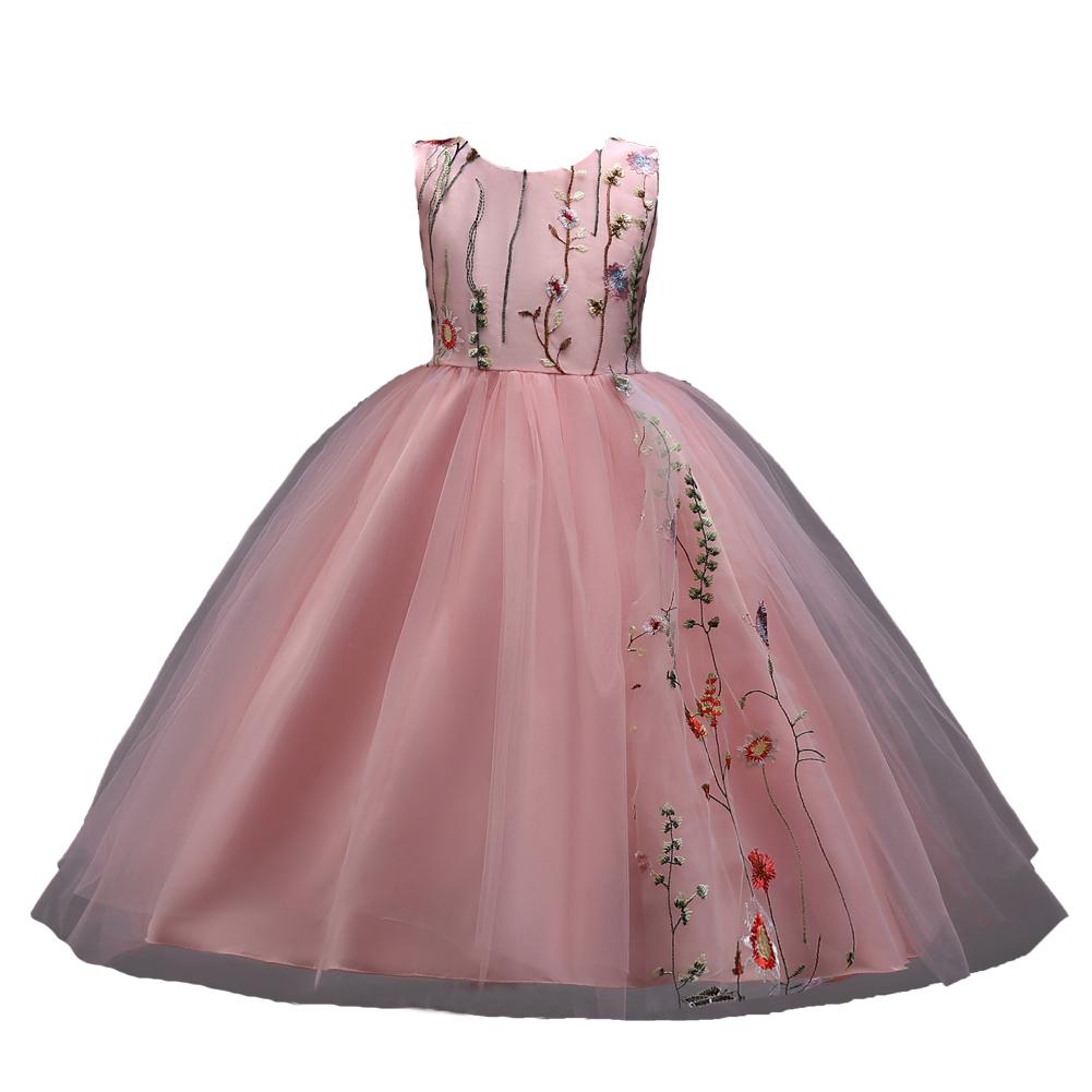 Estilo Coreano Venta Caliente Chico Vestido De Fiesta Color Rosa Niña De Las Flores Boda Vestido De Cumpleaños De Bebé Vestidos 3 Años Buy Vestido