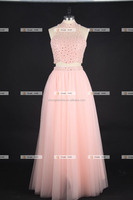 Gorgeous heavy beaded Long Tulle Evening Dress For Women