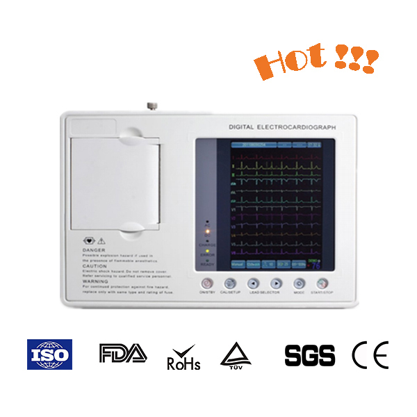 Top Sale Healthcare Portable ecg heart monitor, 6 channel 24 hour ecg analysis monitor manufacturer