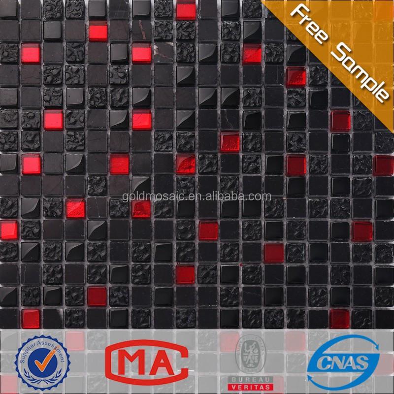 Jtc-1322 handwerk mosaik wand mosaik-fliesen aufkleber rot und ...