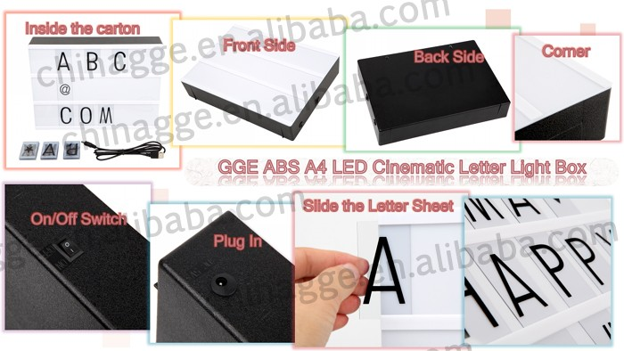 Abs Shell Acrylic Front Panel A4 Size Black White Free Combination ...