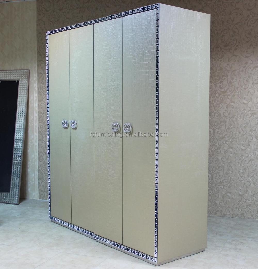 Fo459 Contempor Neo Moderno Imitado Cocodrilo Cuero De Plata 4 5 6  # Muebles Postmodernos