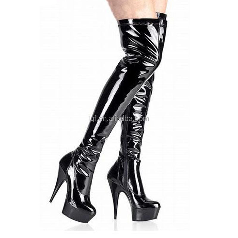 nightclub boots ladies 10 heels high heel shoes inch high heels sexy boots cheap knee laced up sexy high 15zTxwz