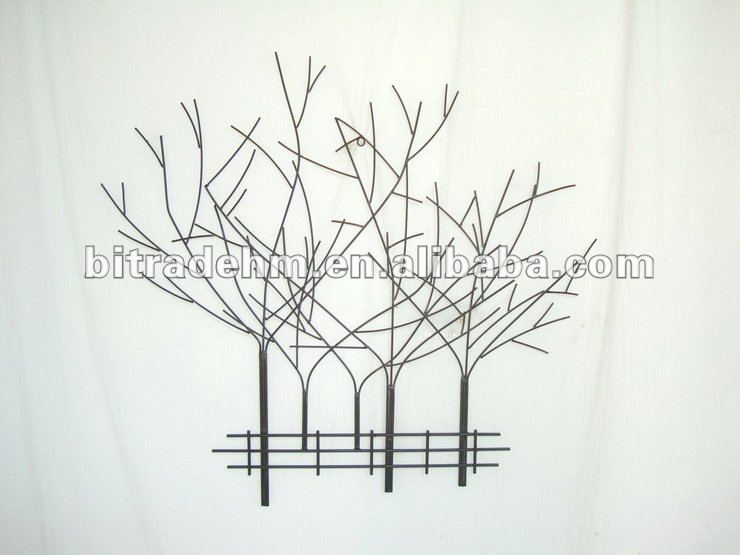 decoration murale arbre metal