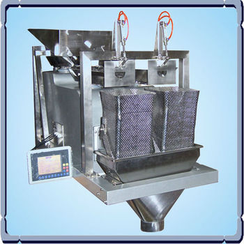 BT-ACZ-D Small 2 Head Linear digital weigher, carton box machine