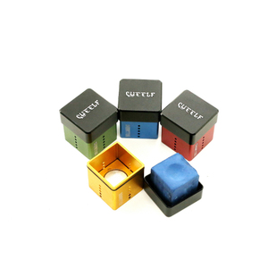 Cue-elf colorful aluminum billiard pool chalk holder
