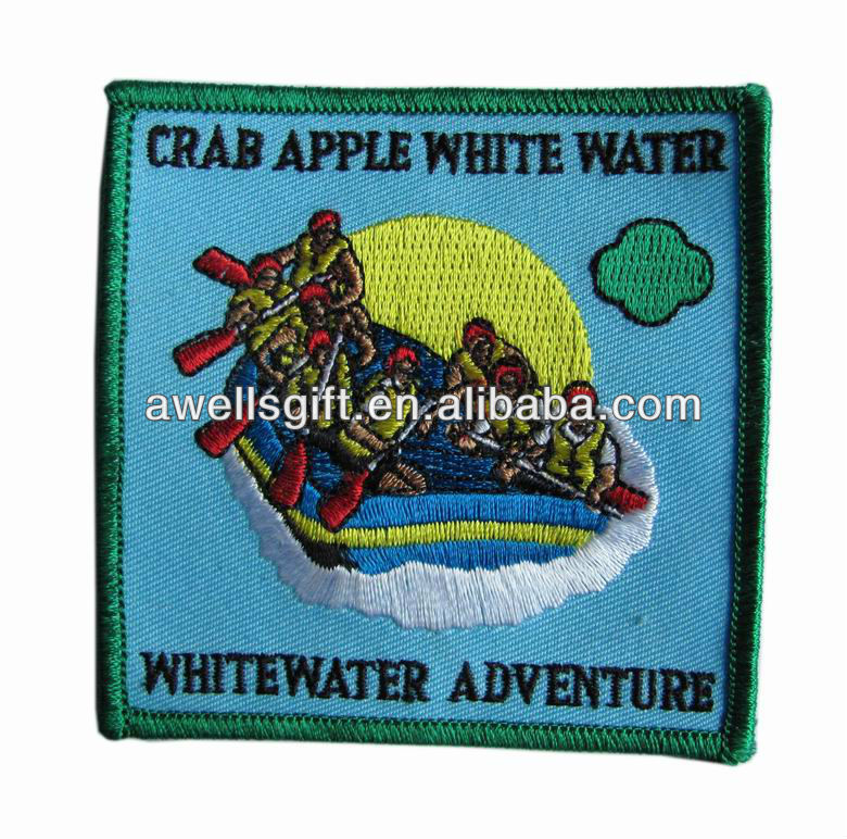 embroidered adventure outdoor sew on badge