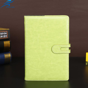 leather material custom color thick beautiful dairy note book