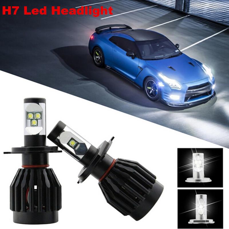 car h7 80w led headlight conversion kit h7 led headlamp kit error free hid kit 9000lm cree led. Black Bedroom Furniture Sets. Home Design Ideas