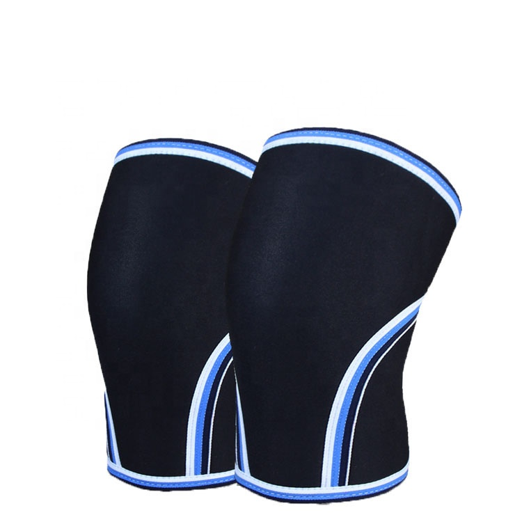 7mm knee sleeve Neoprene Compression Knee Sleeves for Powerlifting Sports fitness leg protector basketball compression sleeve, Black knee support brace