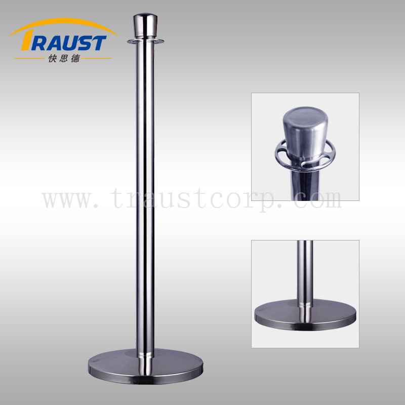 Queue rope barrier/Stainless steel post/Pole barrier